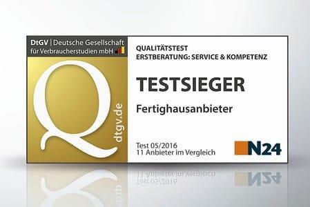 Testsieger N24 Fertighausanbieter