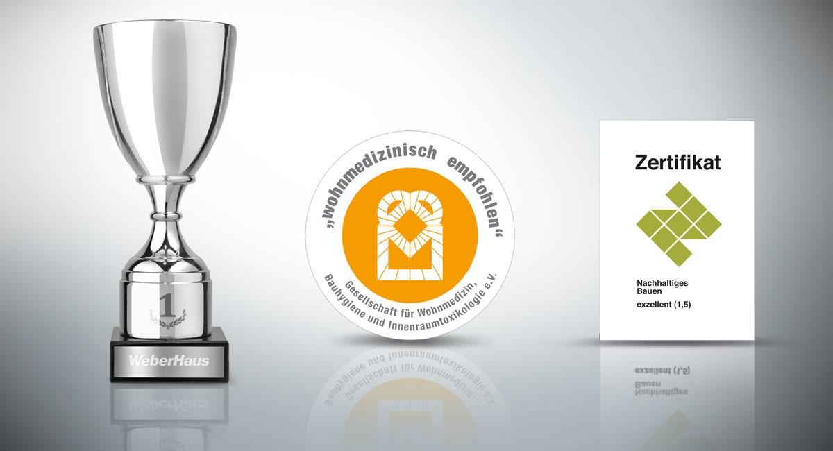 Auszeichnungen-Zertifikate WeberHaus