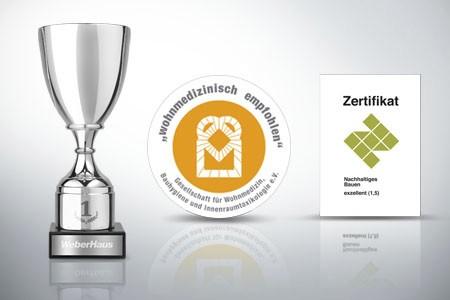 Auszeichnungen-Zertifikate für WeberHaus