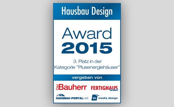 Hausbau Design Award 2015 WeberHaus