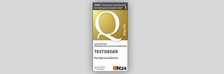 Zertifikat Nachhaltiges Bauen WeberHaus