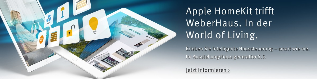 Apple HomeKit bei WeberHaus