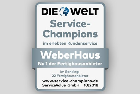 WeberHaus Service-Champion 2018