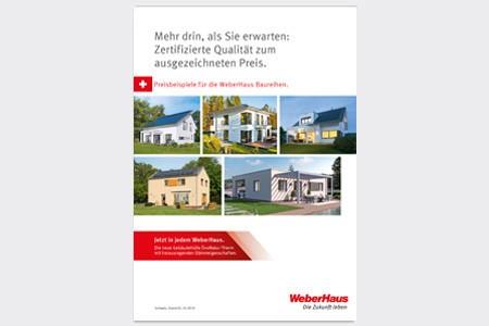 Preisliste WeberHaus Baureihen Schweiz