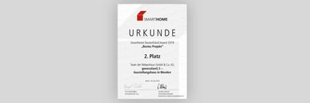SmartHome Award WeberHaus