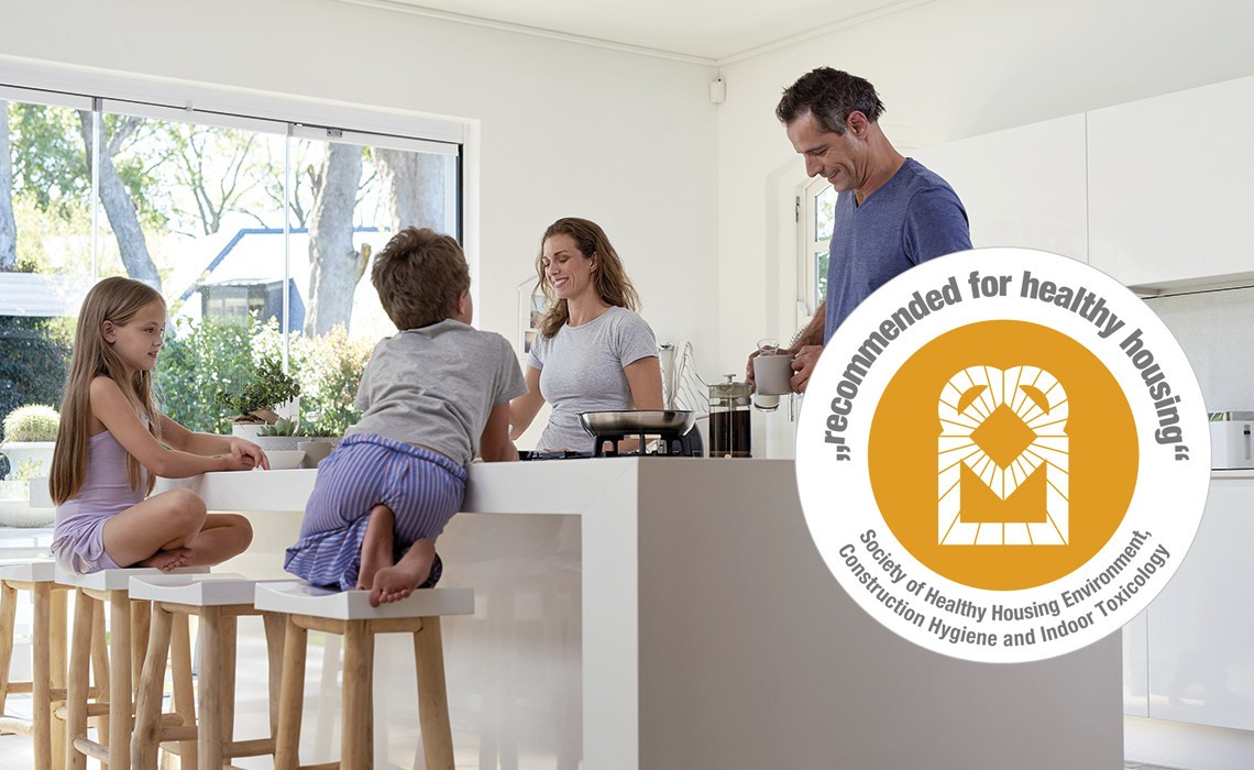 WeberHaus is recommended for healthy housing