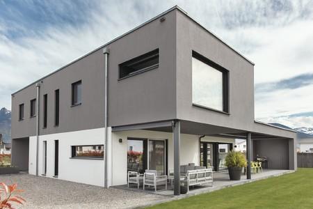 modernes Haus mit Flachdach