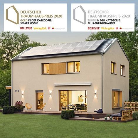 Sieger Deutscher Traumhauspreis Golden Cube Musterhaus sunshine