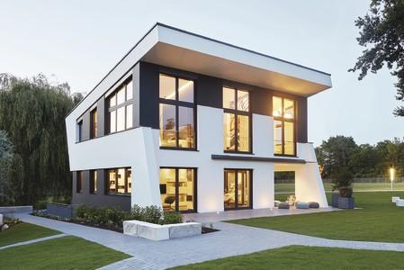 freigeplantes Haus mit Pultdach