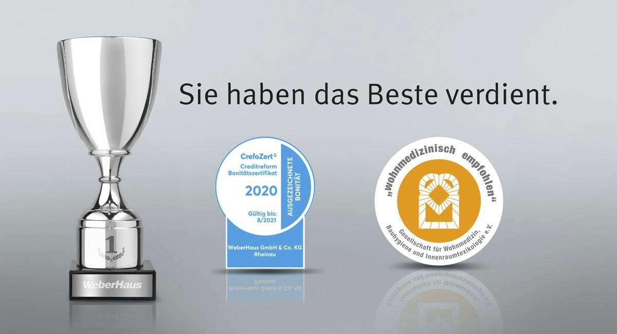 Auszeichnungen und Zertifikate WeberHaus