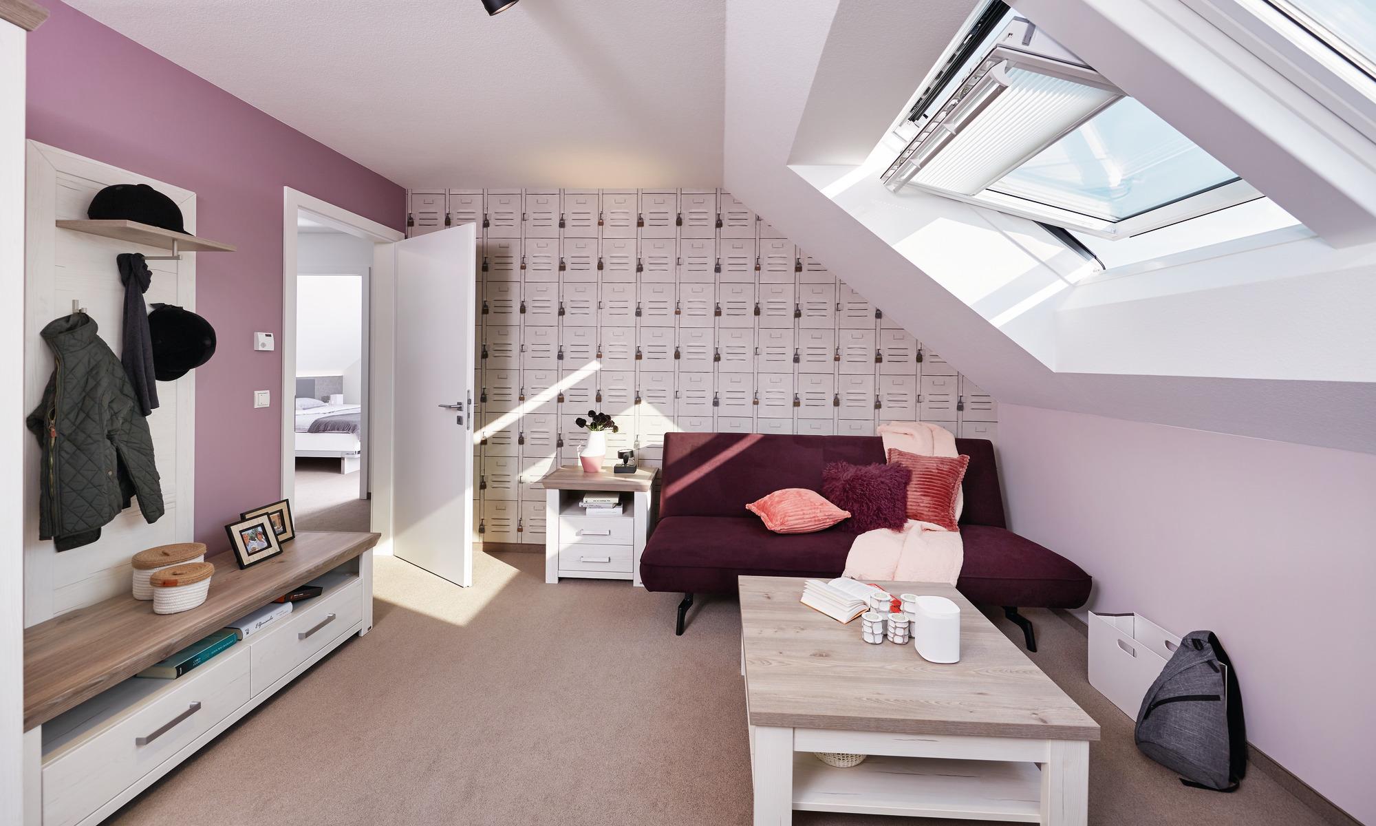 Jugendzimmer mit Dachflächenfenster