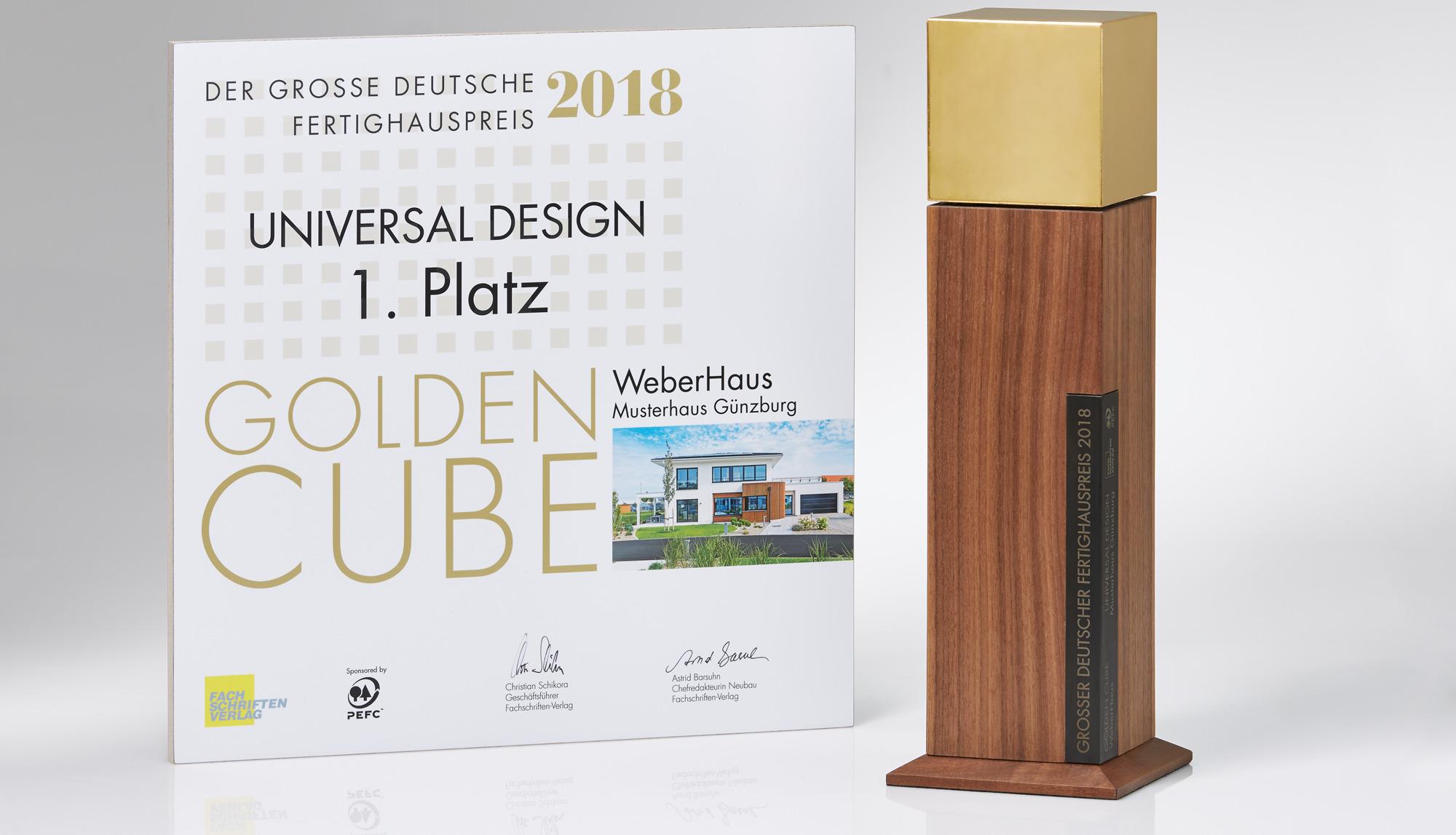 Golden Cube Auszeichnung