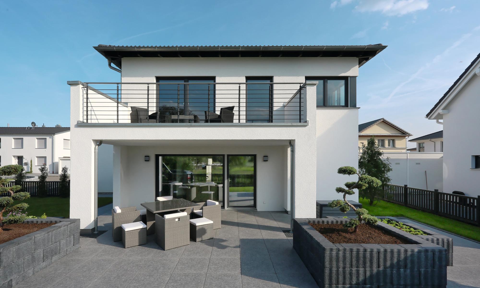 Haus mit Flachdach