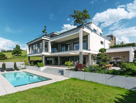 Bespoke 3-storey prefab home with pool