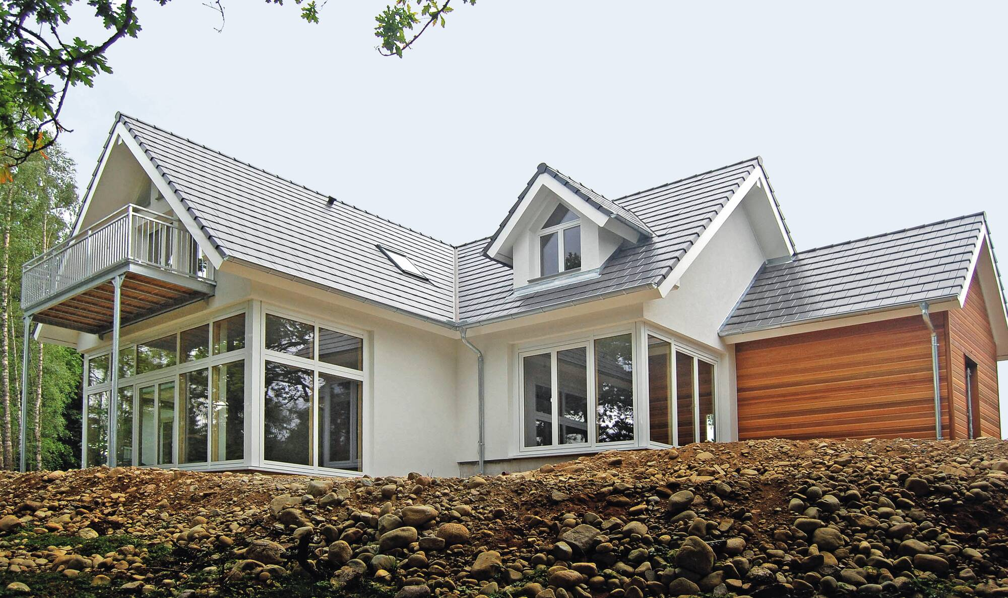 Glass-fronted timber frame home in Scotland