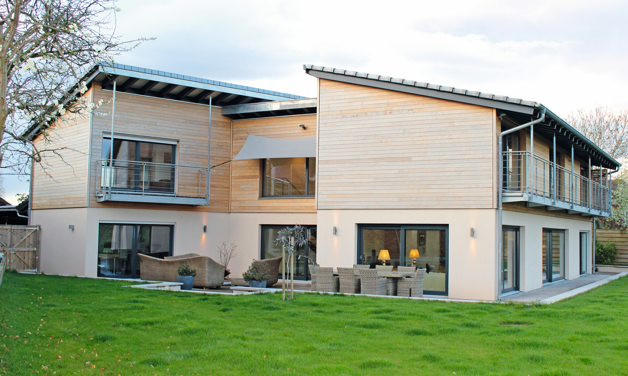 Sustainable prefab home with rainwater harvesting