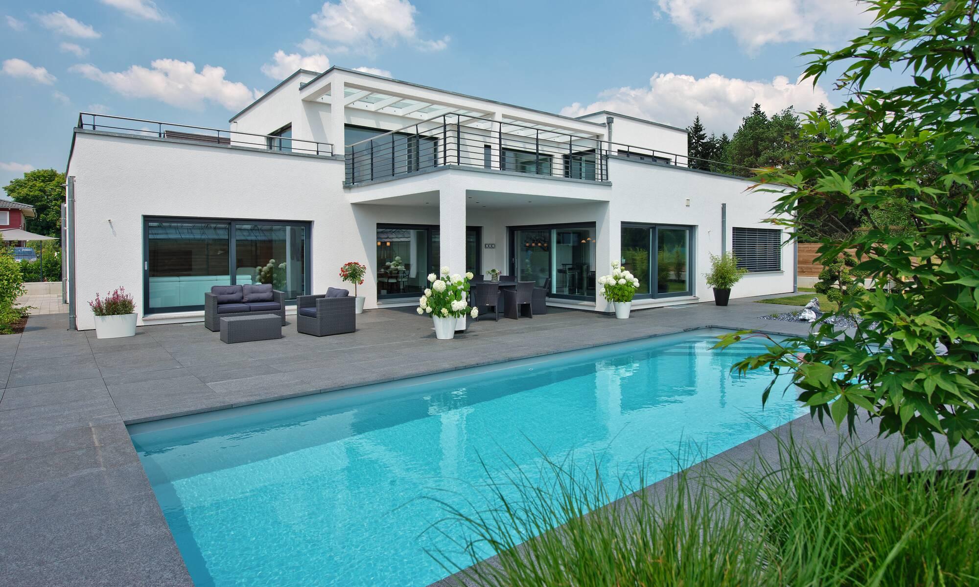 Bauhaus style contemporary prefab home