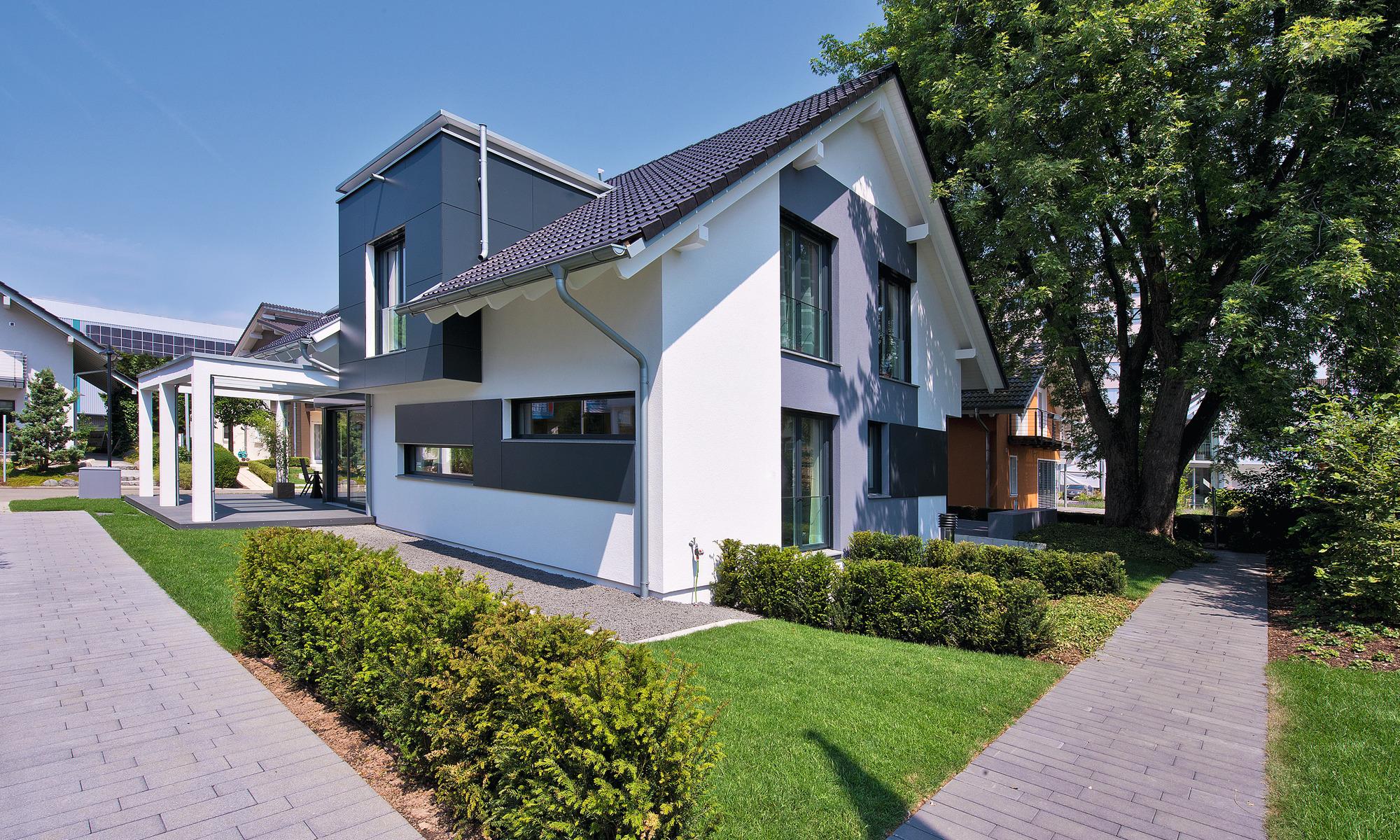 Haus mit Dachgaube