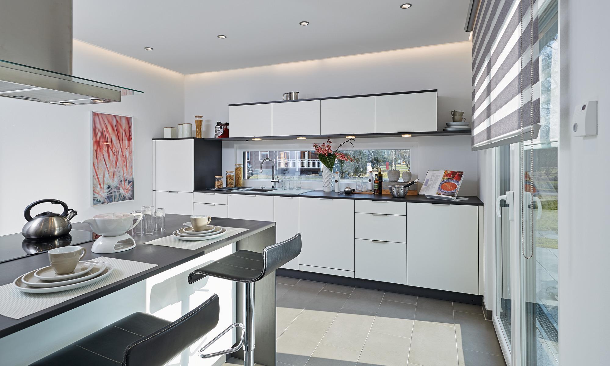 Küche im offenen Wohnbereich