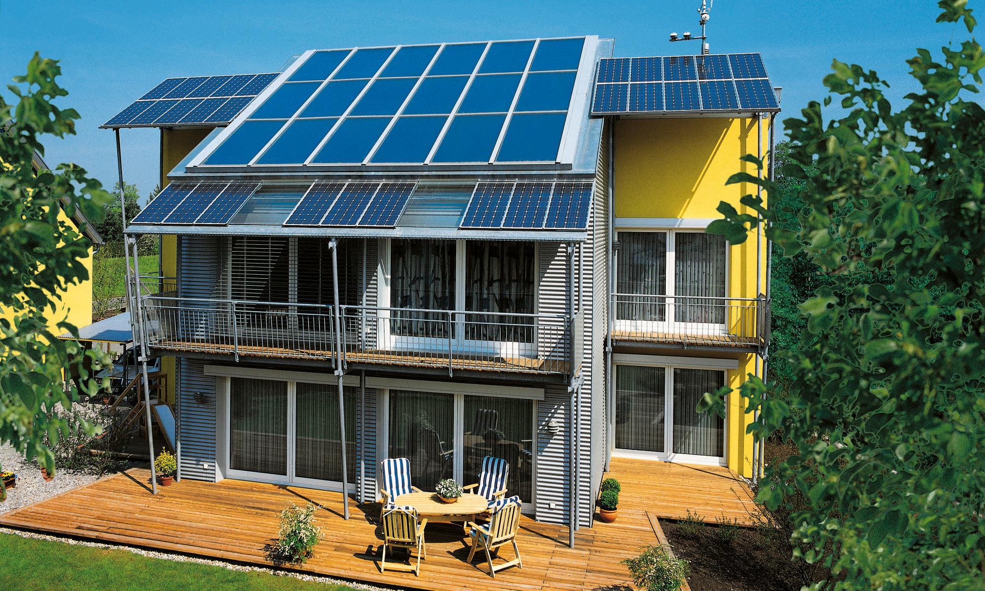 Null-Heizenergie-Haus; Photovoltaikanlage; PV-Anlage