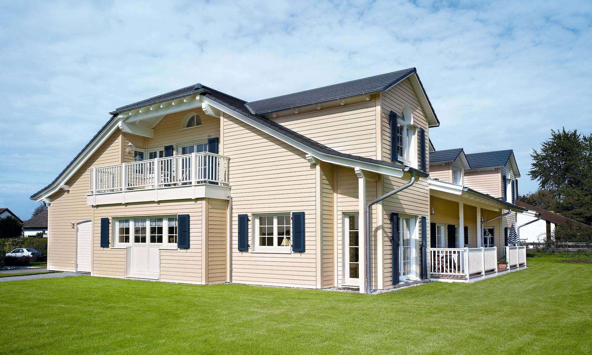 Custom-built timber frame home