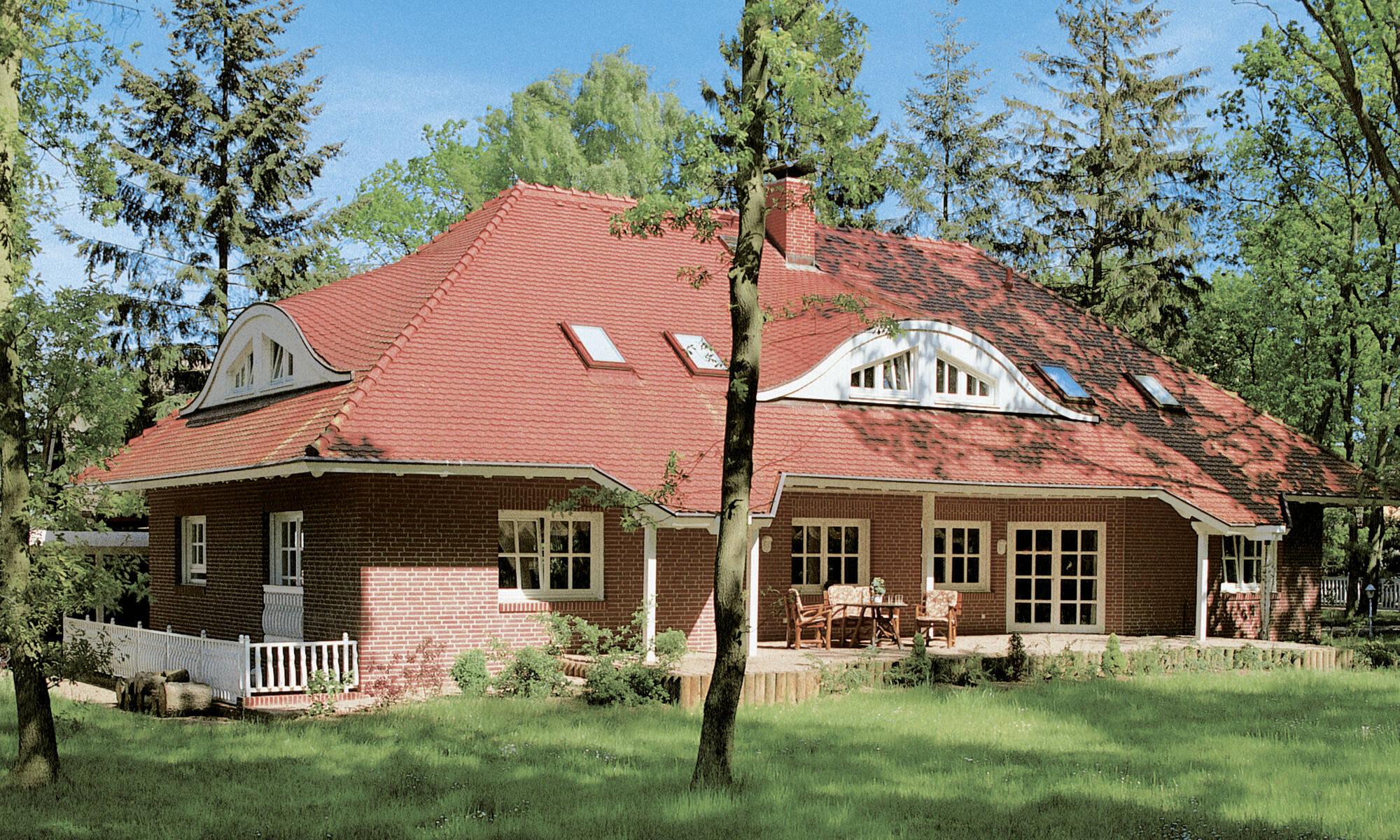 Country style prefabricated home