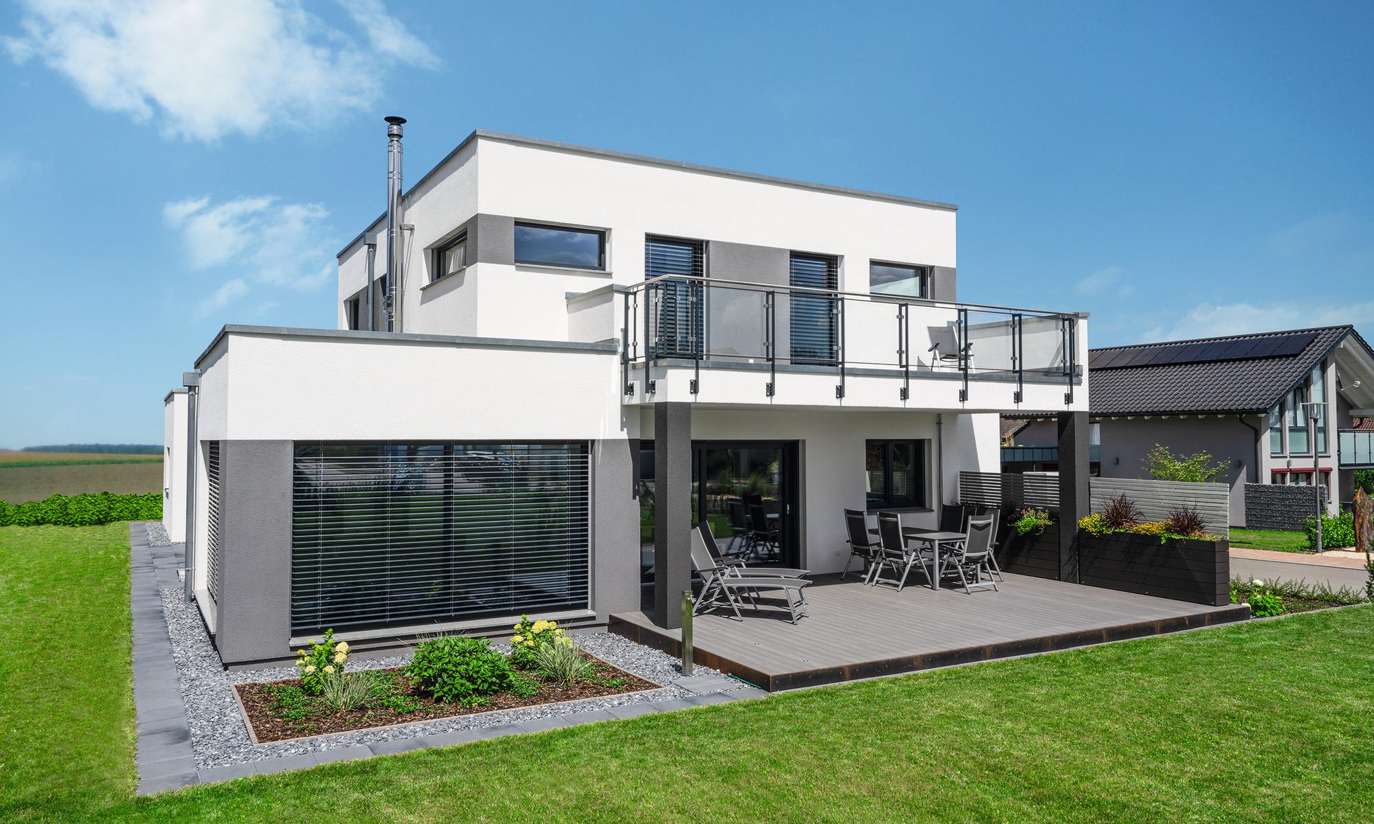 Modernes Architektenhaus mit Flachdach