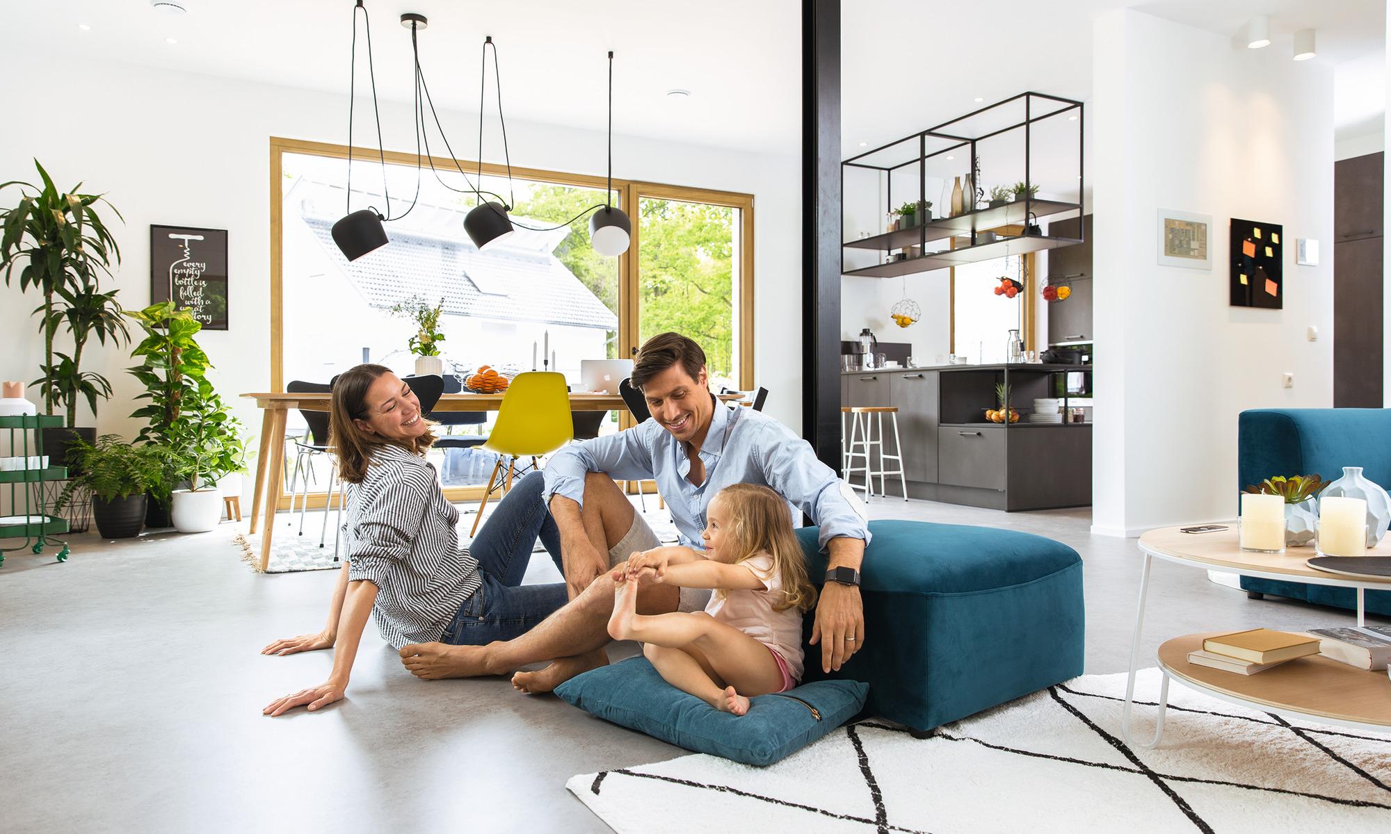 offener Wohn-Essbereich
