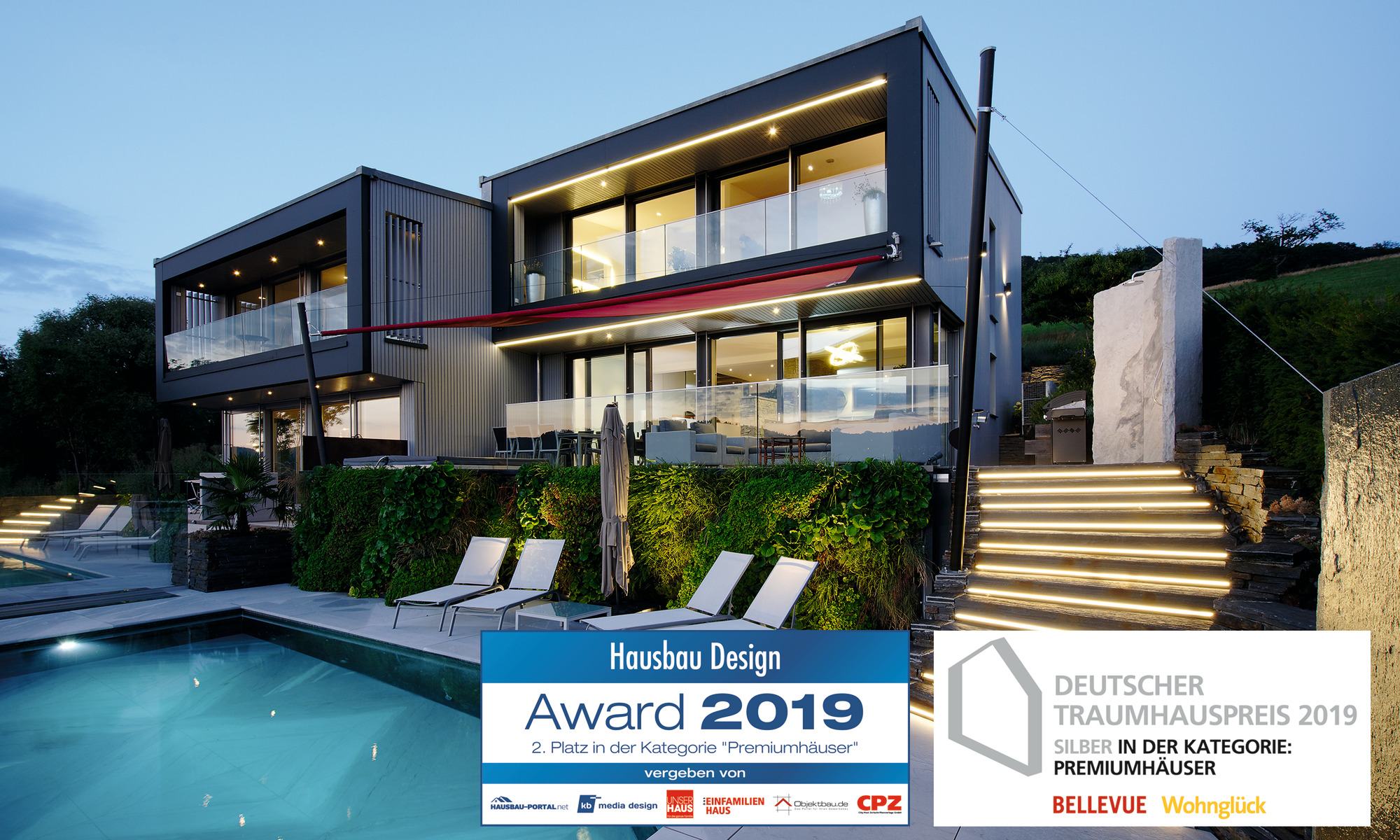 Hausbau Design Award 2019 für WeberHaus