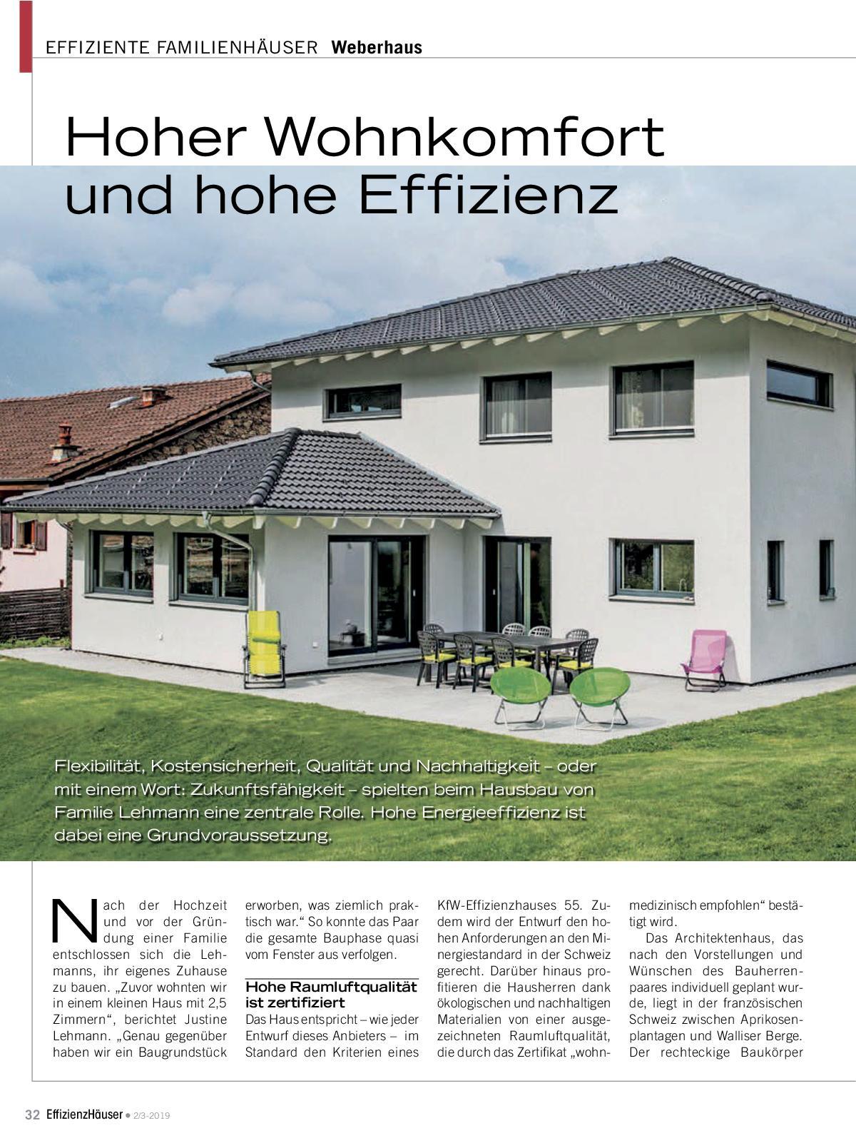 Effizienzhäuser Ausgabe 2/3 2019