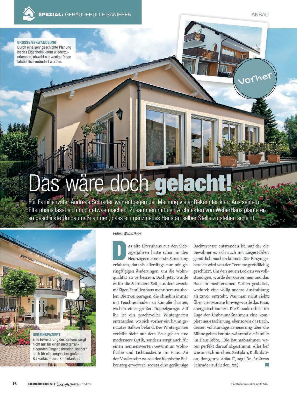 Renovieren und Energiesparen Ausgabe 1 2019