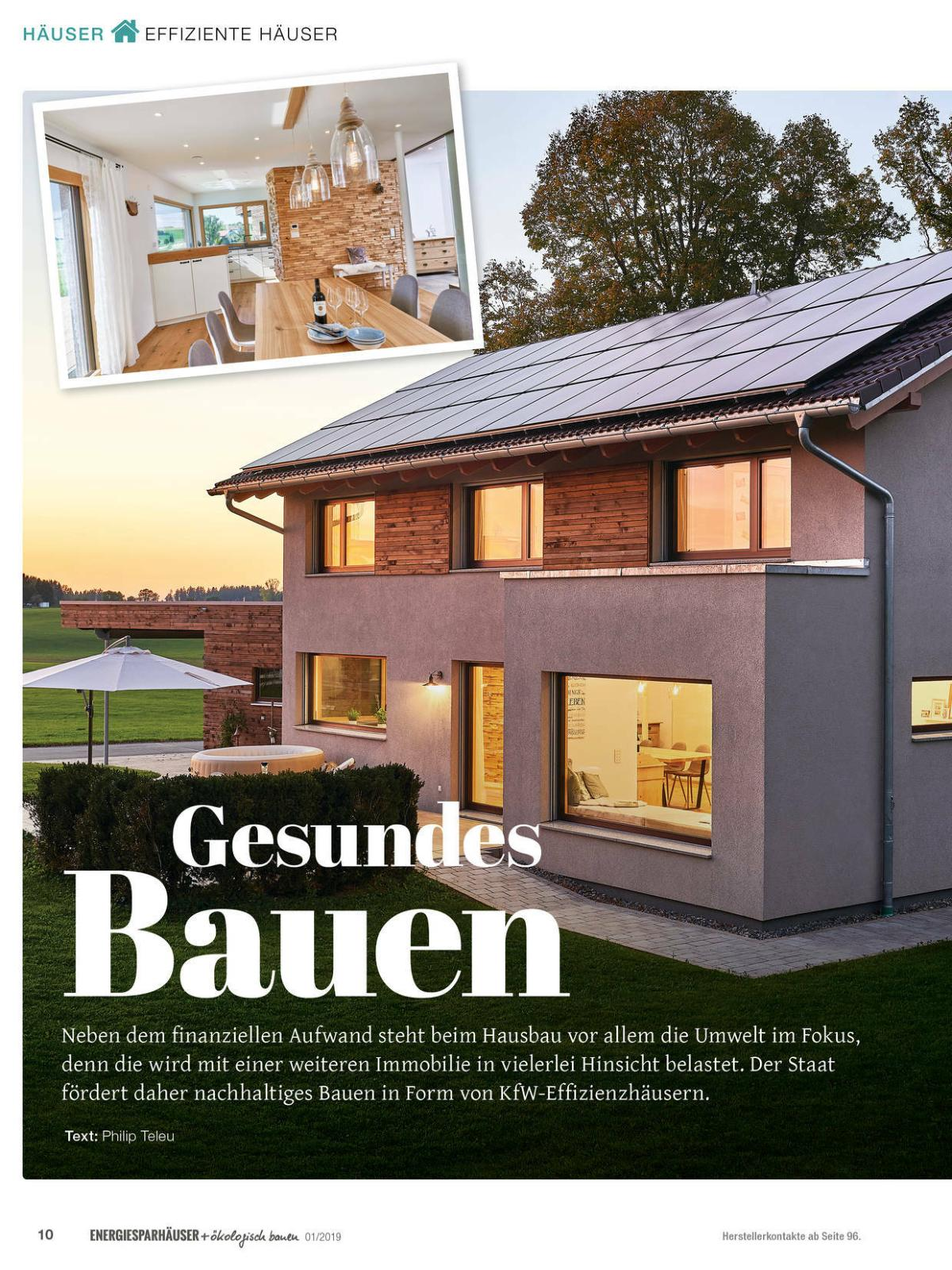 Energiesparhäuser ökologisch bauen