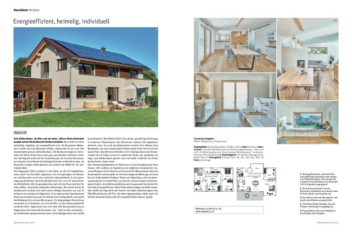 Das Einfamilienhaus CH 5 2019