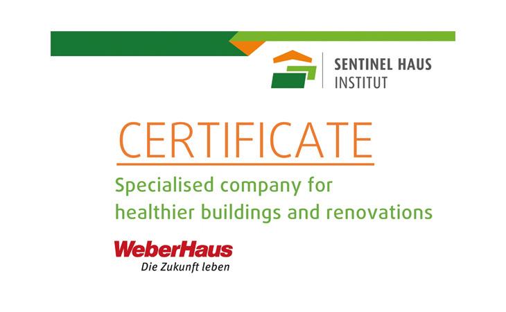 sentinel haus certificate