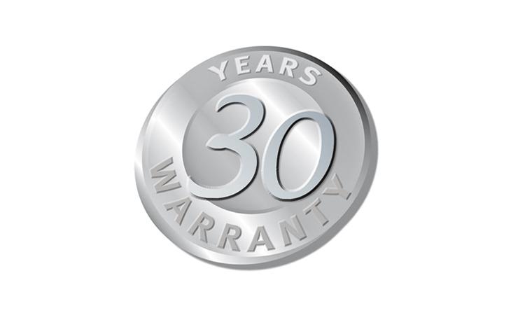 30 years warranty