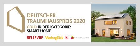 Deutscher Traumhauspreis 2020 - WeberHaus gewinnt Gold in Kategorie Smart Home