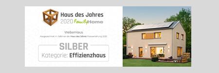 Haus des Jahres 2020 FamilyHome Kategorie: Effizienzhaus