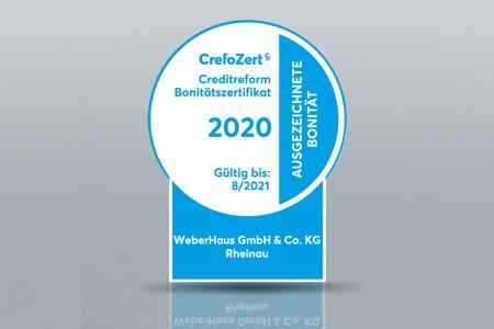 CrefoZert Bonitätszertifikat für WeberHaus 2020