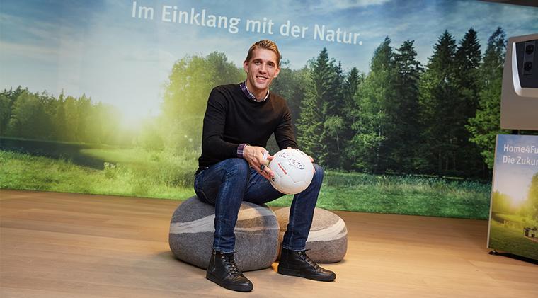 Nils Petersen in der World of Living bei WeberHaus