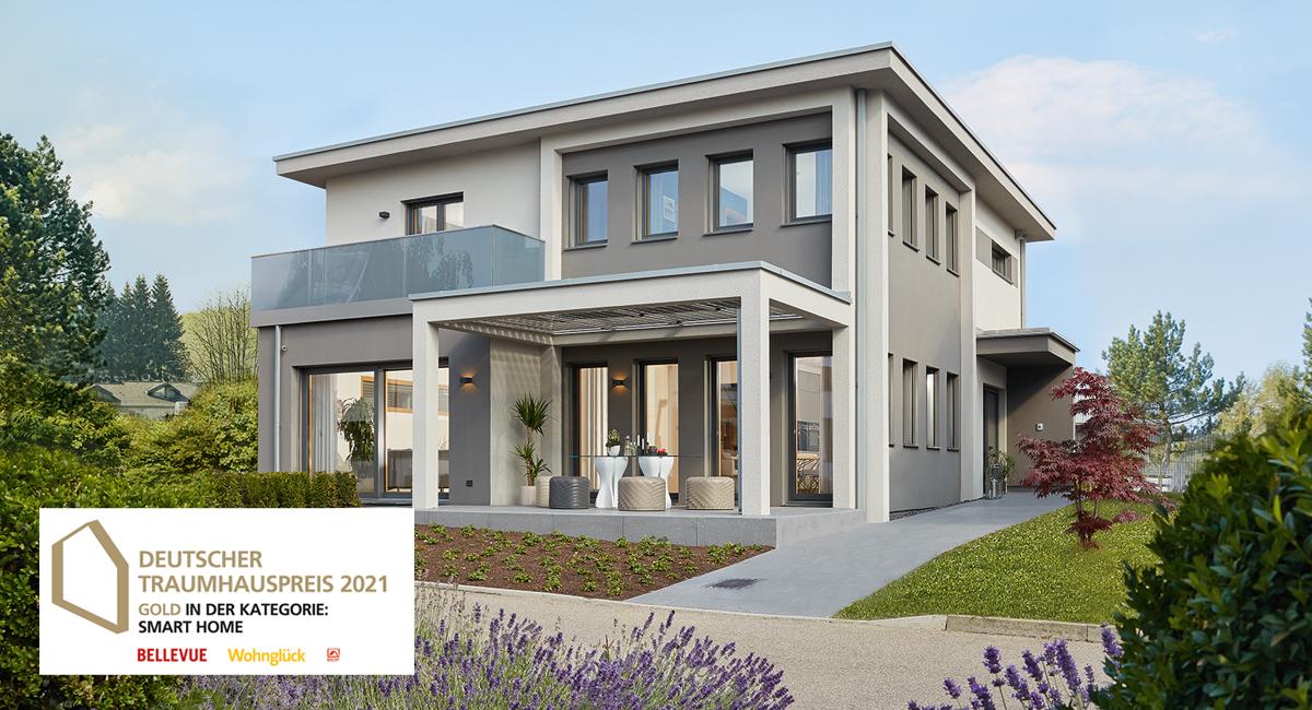 Gold für Musterhaus Fellbach Kategorie Smarthome - Deutscher Traumhauspreis