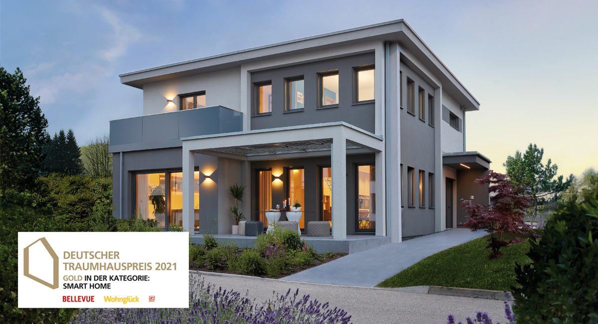 Deutscher Traumhauspreis 2021 - Gold für WeberHaus Kategorie SmartHome